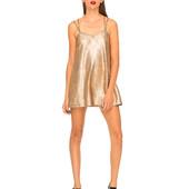 Эффектное новое платье на тонких бретелях  Цвет розовое золото  Бренд Motel  Размер S