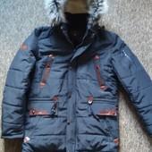 Зимняя куртка на меху, меховая опушка, смотрите замеры