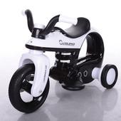 Детский электромобиль-мотоцикл Bambi 99123-1, черно-белый