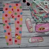 3 - 4 года 98 - 104 см Яркие модные фирменные легинсы лосины девочке