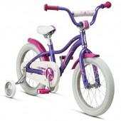 Детский велосипед 16 Schwinn Lil Stardust girls 2016, девочки, двухколесный, швин, фиолетовый, швинн