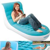 Надувное велюровое кресло-шезлонг Intex Splash Lounge