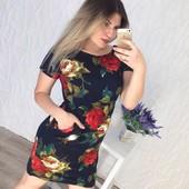 Платье цветы 48-50, 52-54 (3