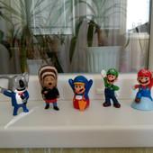 Марио, Домики со смурфиками, время приключений и др. игрушки Макдональдс хеппи мил
