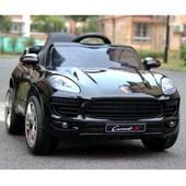 Детский электромобиль Porsche 1518 черный, белый, красный