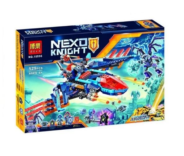 Конструктор bela 10596 нексо найтс самолёт-истребитель «сокол» клэя (аналог lego nexo knights 70351) фото №1