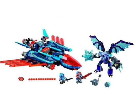 Конструктор bela 10596 нексо найтс самолёт-истребитель «сокол» клэя (аналог lego nexo knights 70351) фото №3