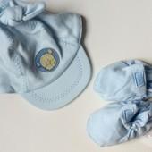 Шапуля кепка Mini mode  на мальчика 0-3мес.