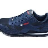 Кроссовки мужские Supo Light Energy Sport 1608 синие (реплика)