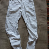 Белоснежные фирменные х/б джинсы G-Star raw arc loose tapered 29/32 р