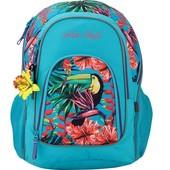 Качественный яркий школьный городской рюкзак ранец для девочки 5-11 Кайт kite Style-3