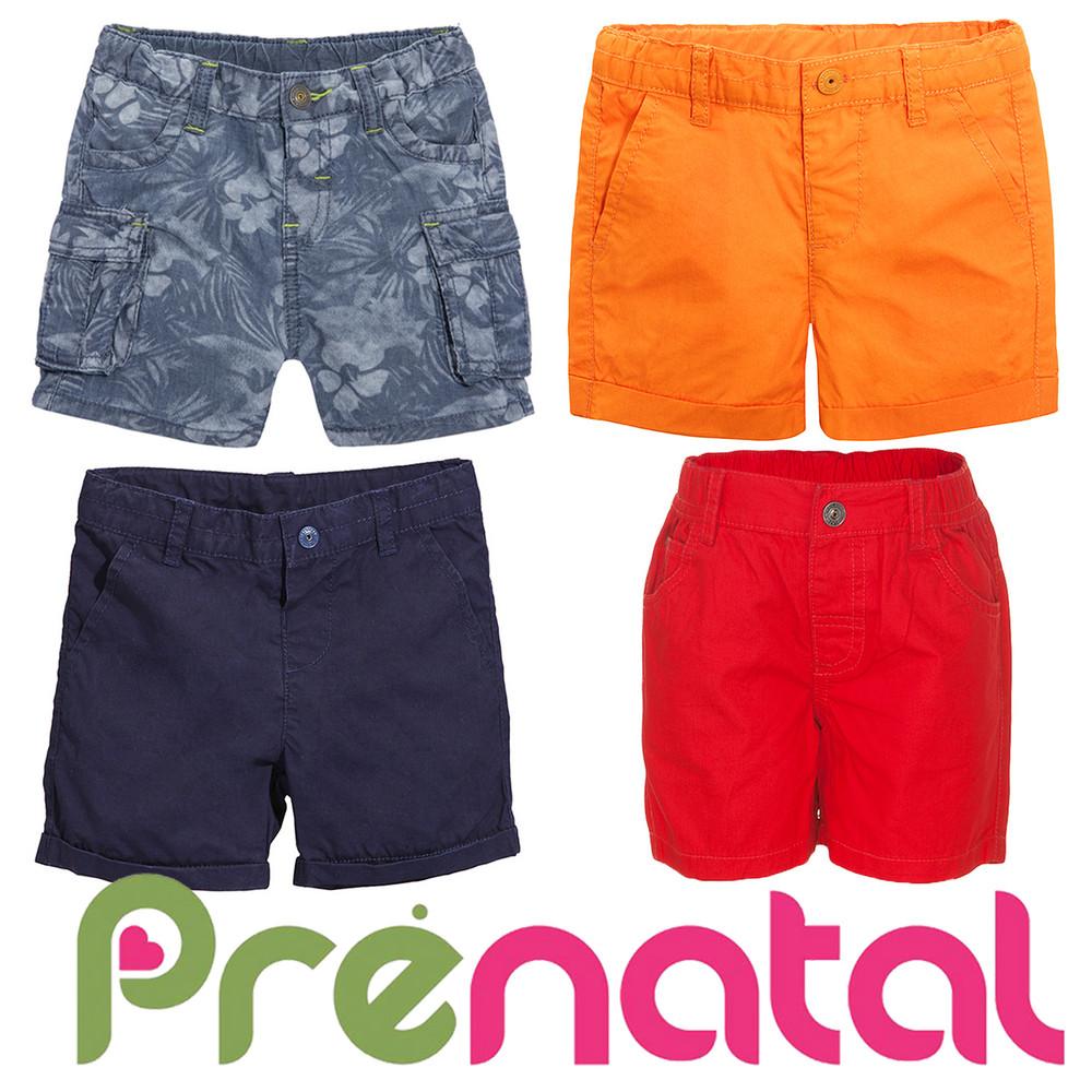 Шорти ситцеві для хлопчиків 3-9 місяців фірми prenatal італія фото №1