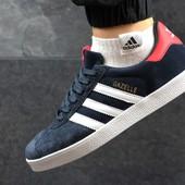 Кроссовки мужские Adidas Gazelle Dark blue red