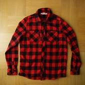 164 см H&M как новая байковая теплая фирменная рубашка хлопок. Длина - 70 см, ширина 52 см, плечи -