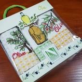 Набр кухонных полотенец Нилтекс, Оливковое масло 3 шт.