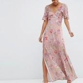 Платье с рукавами крылышками ASOS, S