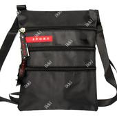 Сумка - кошелек через плечо черного цвета (1003)