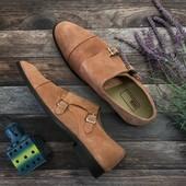 Мужские туфли монки Asos из натуральной замши на двойной пряжке  SH2733