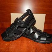 Мужские кожаные сандалии Falcon (закрытые), цвет черный