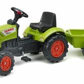 Детский трактор на педалях с прицепом Falk 2040A Claas Arion 410