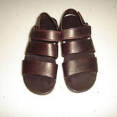Clarks Мужские кожаные сандалии босоножки р 41 (UK 7 G), стелька 27 см цвет-темно-коричневый 2 лип