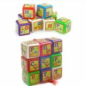 Кубики Абетка 9 кубиков 6см малые 028/1 Bamsic бамсик