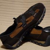 Добротные комбинированные кожаные кроссовки Rieker Германия 40 р.