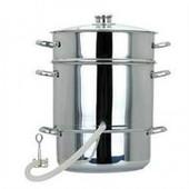 Соковарка Помощница объемом 8 литров нержавеющая сталь