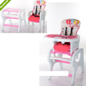 Стульчик для кормления трансформер M 0816-18, розовый ***