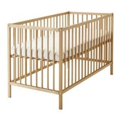 Кроватка детская, бук, 60x120 см ikea икеа 302.485.37