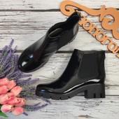 Стильные ботинки челси Aldo с лаковым верхом и массивной подошвой  SH2803