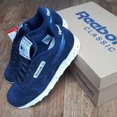 Кроссовки Reebok Classics dark blue,ТОП качество