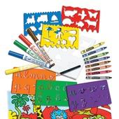 Crayola Набор для творчества с трафаретами loisir créatif jeux de pochoirs