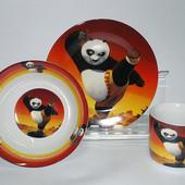 Детский набор посуды из керамики Кунг-фу Панда, 3 предмета