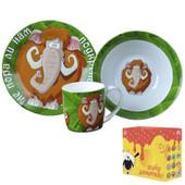Детский набор посуды из керамики Не пора ли нам подкрепиться Мамонт, 3 предмета
