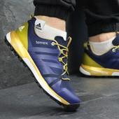 Кроссовки мужские Adidas Terrex Boost blue/gold