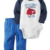 Carters комплект бодик штаны костюм