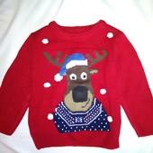 Новогодний свитер с музыкой на 12-18 мес