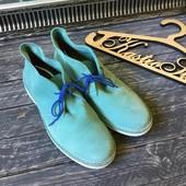 Стильные мужские ботинки натуральный замш Selected , р-р 42
