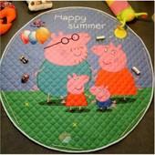 Детский коврик - мешок для игр и хранения игрушек свинка пеппа