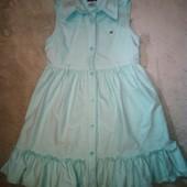 оригинальное хлопковое платье - сарафан Tommy Hilfiger