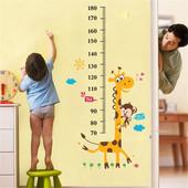 Ростомер-наклейка для детской комнаты Жираф, Жирафик
