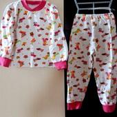 Теплая пижама. На 2-3 года.
