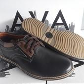 Туфли натуральная кожа на шнурках (черные и серые)