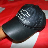 Фирменная кожаная кепка Chevrolet.55-56