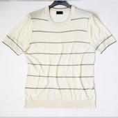 Lab Pal Zileri шелковая футболка тенниска р52 eur XL айвори с черным