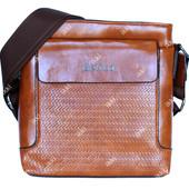 Мужская винтажная сумка через плечо коричневая (54089)