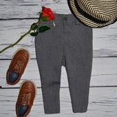 9 - 12 месяцев 80 см фирменные очень крутые натуральные брюки модникам классика Next некст