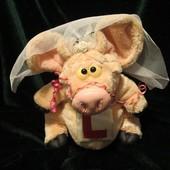 Свинка.свинья.поросенок.хрюша.свиня.мягкие игрушки.мягка іграшка.Carte Blanche.Piggin