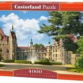 Пазлы 4000 Польский замок перед замком фонтан Moszna Castle Poland 027 castorland касторленд Польша